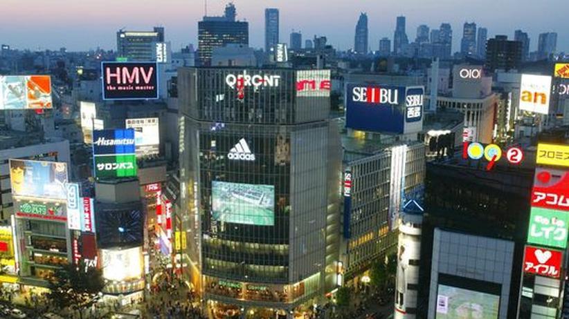 Ansicht der Skyline von Tokio