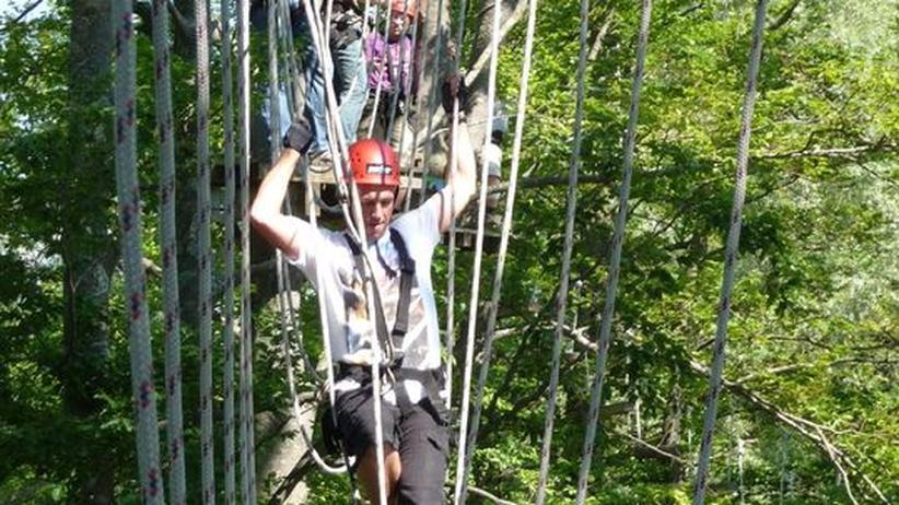 Betriebsausflug: Mit dem Chef in den Klettergarten