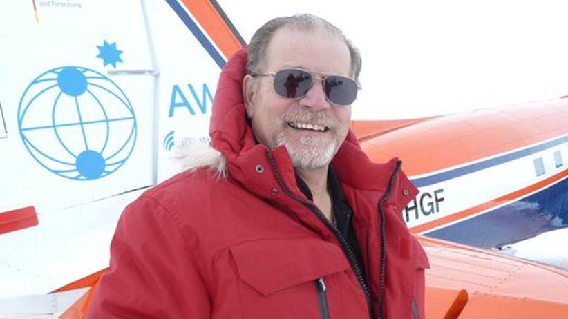 Der Polar-Pilot Keith Kruegers in der Antarktis