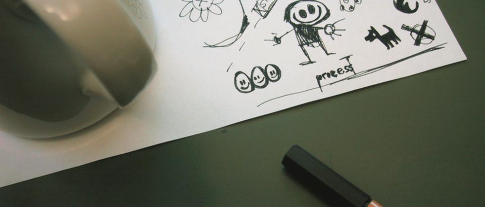 Strichmännchen-Zeichnung