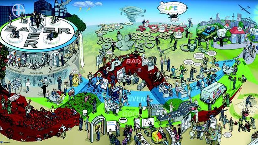 Weiterbildung: Das Unternehmen Bayer als Wimmelbild