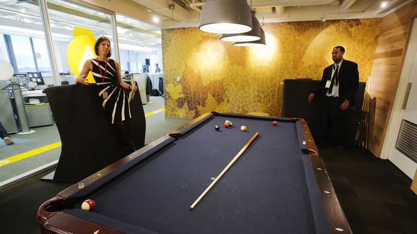 Der Billard-Konferenzraum im Google-Büro in Toronto