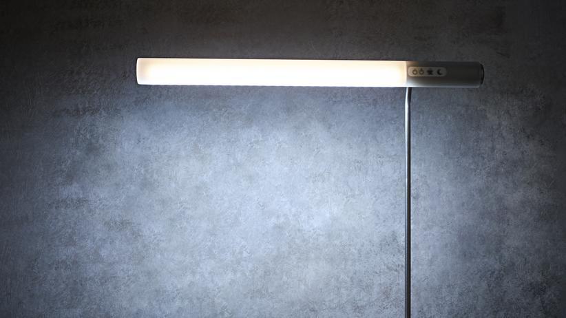 Bürobeleuchtung: Bereitet zwar keinen Kaffee zu, soll aber ebenso munter machen: die von Raphael Haase und seinem Team entwickelte Schreibtischleuchte. Achtung: Produktbild des Start-ups.