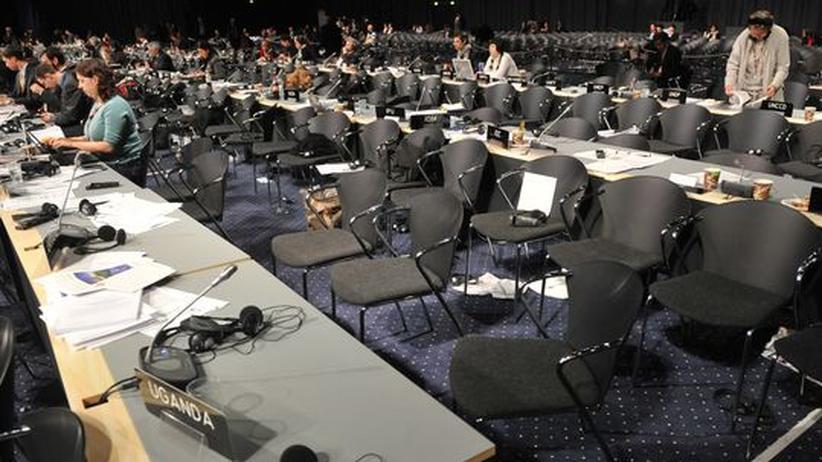 Blick in einen Konferenzsaal, in dem die UN tagt