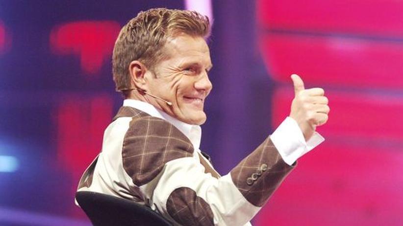Der Entertainer Dieter Bohlen sitzt als Juror in einer Castingshow