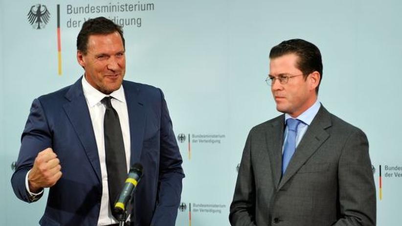 Guttenberg trifft Möller: Gladiator in Klammern
