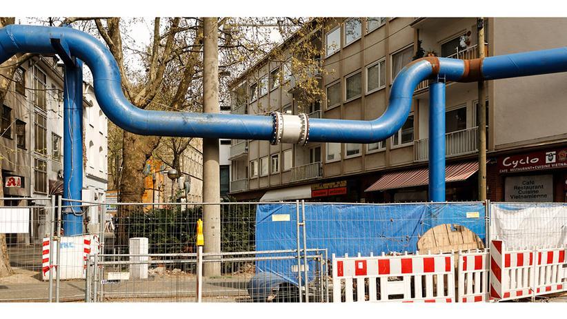 Kölner U-Bahnbau: Ein Rohr geht seinen Weg