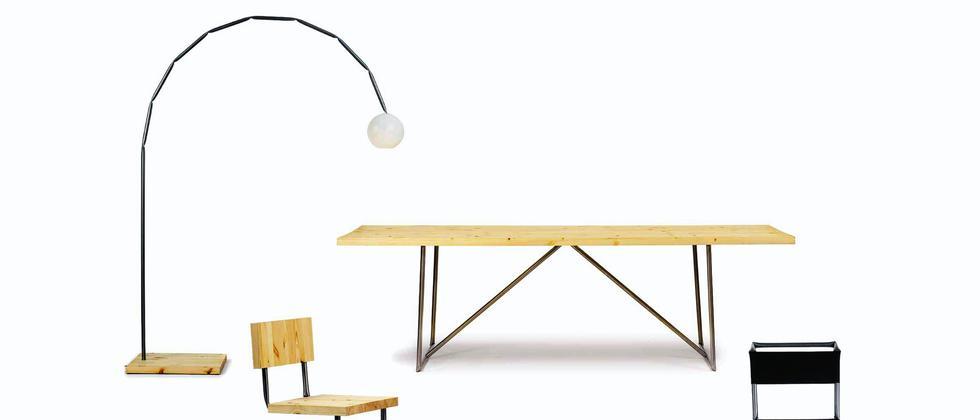 Warum biegen, wenn man auch knicken kann? Die Möbelserie »Kink« und der »Strawchair« von Osko+Deichmann