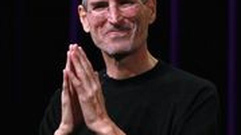 Steve Jobs: Steve Jobs während einer Produktvorstellung im September 2010