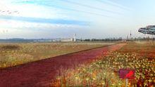 So könnte ein Weg durch die neue Parklandschaft Tempelhof aussehen, folgt man den Entwürfen des Landschaftsarchitekturbüros Gross.Max.