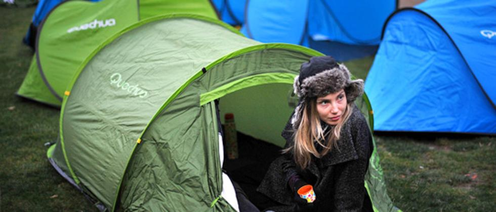 Occupy-Demonstrantin in London