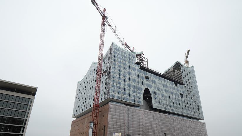 Konzerthaus: Die im Bau befindliche Elbphilharmonie in Hamburg