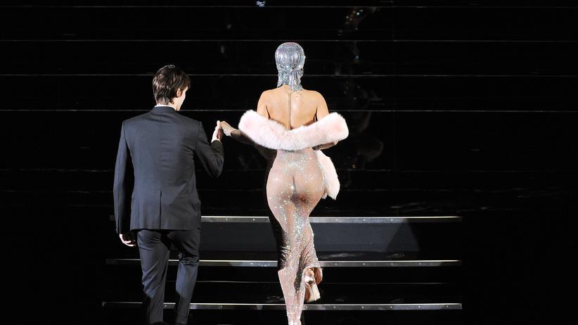 Porno oder prüde? Zur neuen Doppelmoral: Die Sängerin Rihanna im Juni 2014 auf der Bühne des CFDA Fashion Awards in New York City.