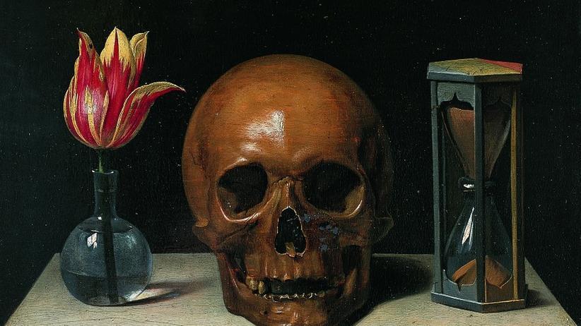 """Sterbehilfe-Debatte: """"Stillleben mit Totenschädel"""": ein typisches Vanitas-Gemälde von Philippe de Champagne (1621–1674)"""
