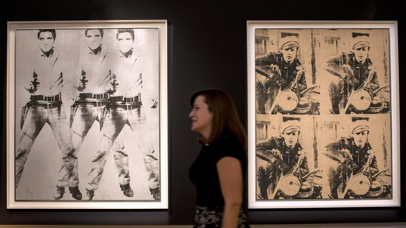 """Triple Elvis"" and ""Four Marlons"" von Andy Warhol"