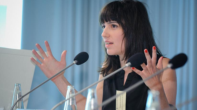 Raumplanung: Die ETH-Forscherin Fabienne Hoelzel 2011 auf einer Konferenz zur Zukunft von Städten