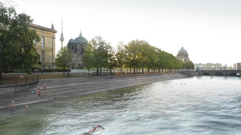 Stadtentwicklung: Bald schon Realität? Der Entwurf für das Flussbad