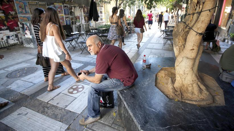 Athen Strasse Leben