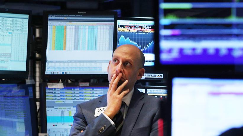 Wirtschaftspolitik: Ein Broker an der New Yorker Börse