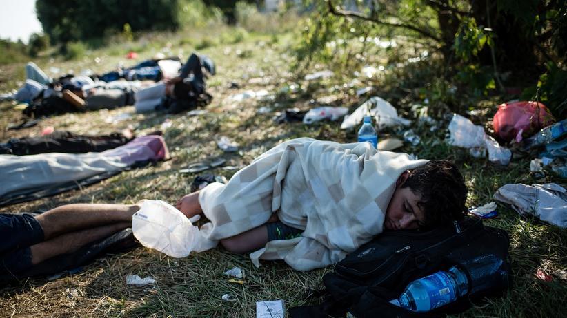 Flüchtlinge campieren unter menschenunwürdigen Bedingungen.