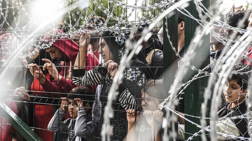 Flüchtlinge: Flüchtlinge an der ungarisch-serbischen Grenze