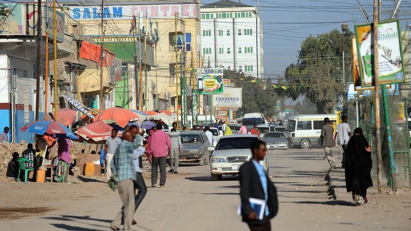 Straßenszene in Hargeisa