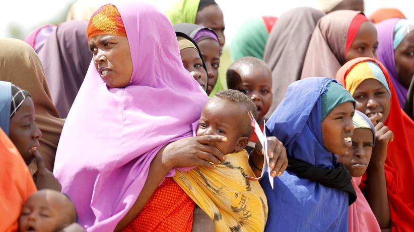 Aus Somalia geflüchtete Frauen im Camp Dadaab