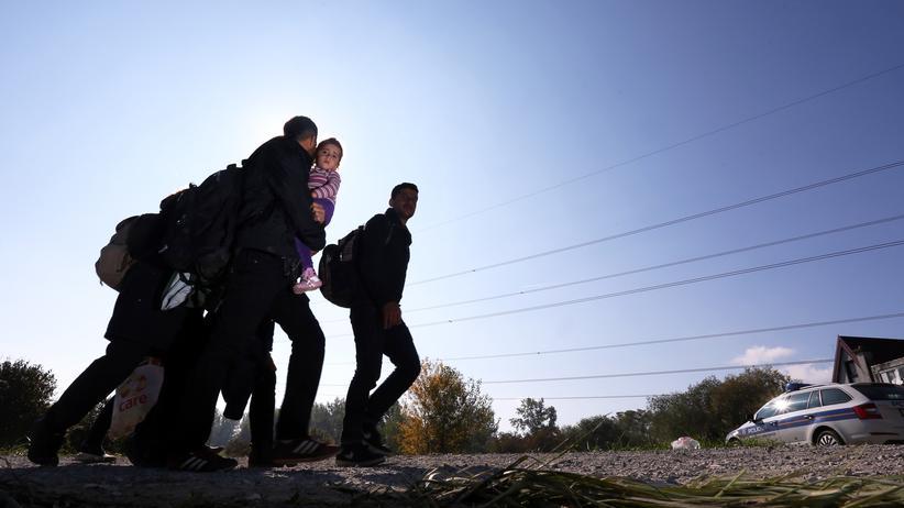 Flüchtlingspolitik: Flüchtlinge nahe der kroatisch-slowenischen Grenzstadt Ključ Brdovečki