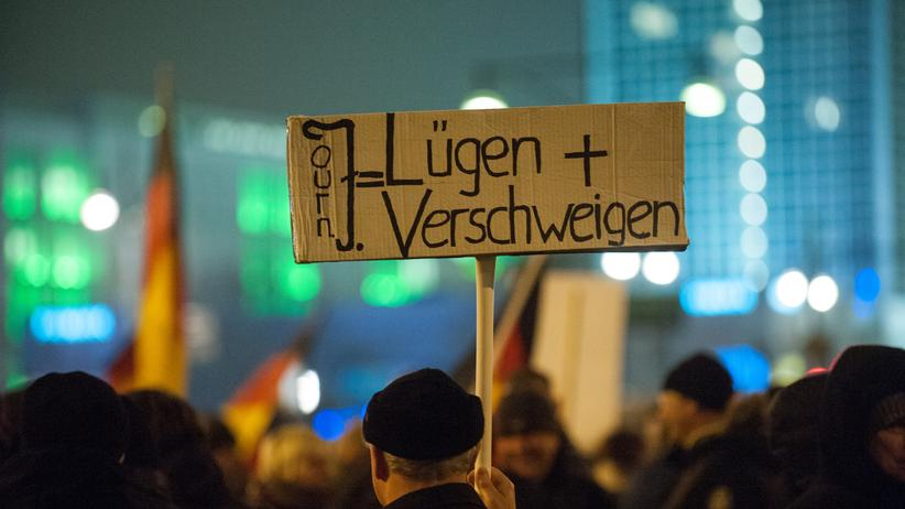 Demonstrant in Berlin