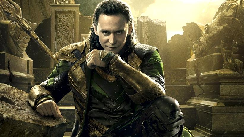 "Tom Hiddleston als legendärer Loki im Film ""Thor – The Dark Kingdom"" von 2013"