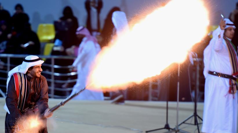 Saudi-Arabien: Ein saudi-arabischer Tänzer auf dem Dschanadrijah-Festival in Riad