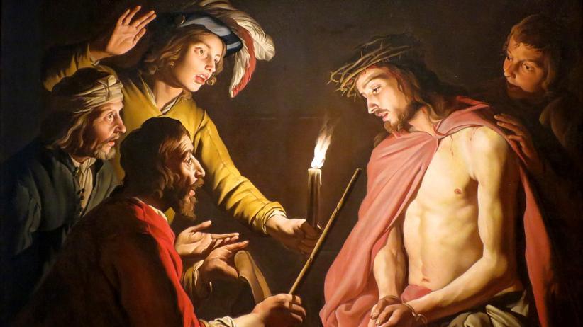 Karfreitag: Jesus mit der Dornenkrone auf einem Ölgemälde von Matthias Stom, um 1635