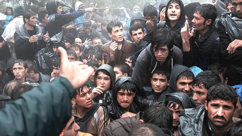 Flüchtlingspolitik: Flüchtlinge auf der griechischen Insel Lesbos