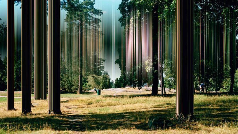 Ralf Brueck: Es regnet Pixelstreifen