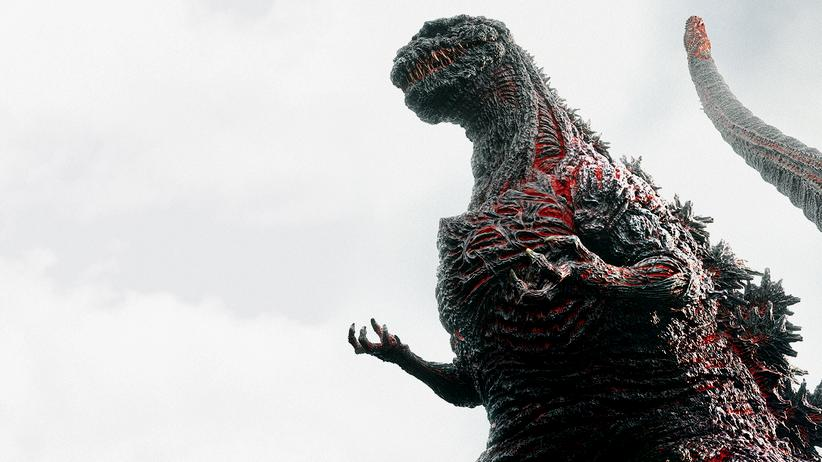 """Japanisches Kino: Der neue Godzilla, 118 Meter in voller Pracht. """"Godzilla: Resurgence"""" hat bisher noch keinen Starttermin in Deutschland."""