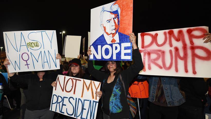 Identitätspolitik: Proteste gegen Donald Trump in Las Vegas