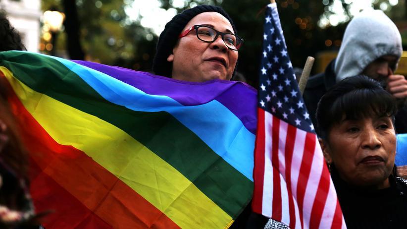 LGBTQ: Straßenprotest nach der US-Präsidentschaftwahl