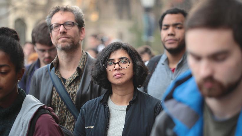Identitätspolitik: Studenten der University von Chicago protestieren gegen Donald Trump