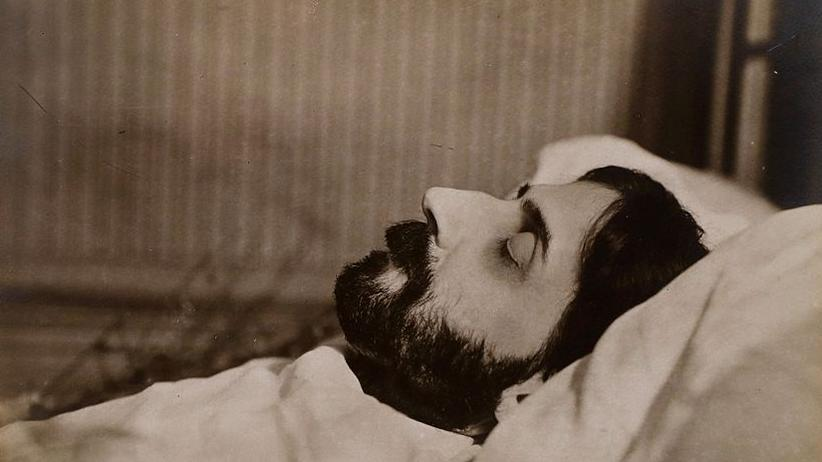 Marcel Proust: Der französische Schriftsteller Marcel Proust auf seinem Sterbebett