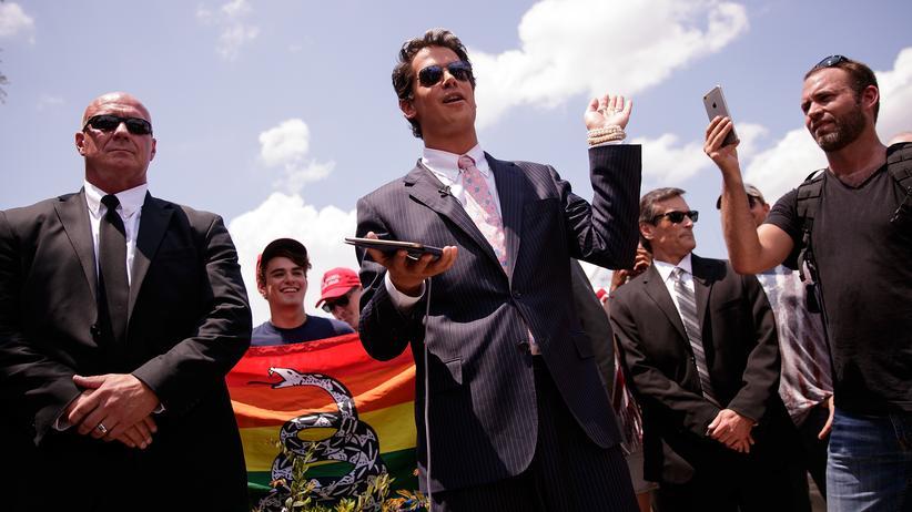 Milo Yiannopoulos: Milo Yiannopoulos, Posterboy der Alt-Right-Bewegung und Ziehsohn von Steve Bannon