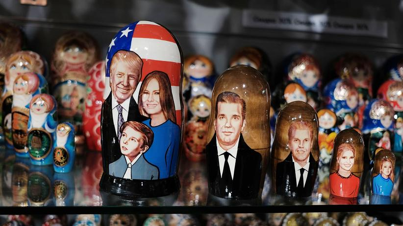 USA: Eine russische Matrjoschka mit der Trump-Familie