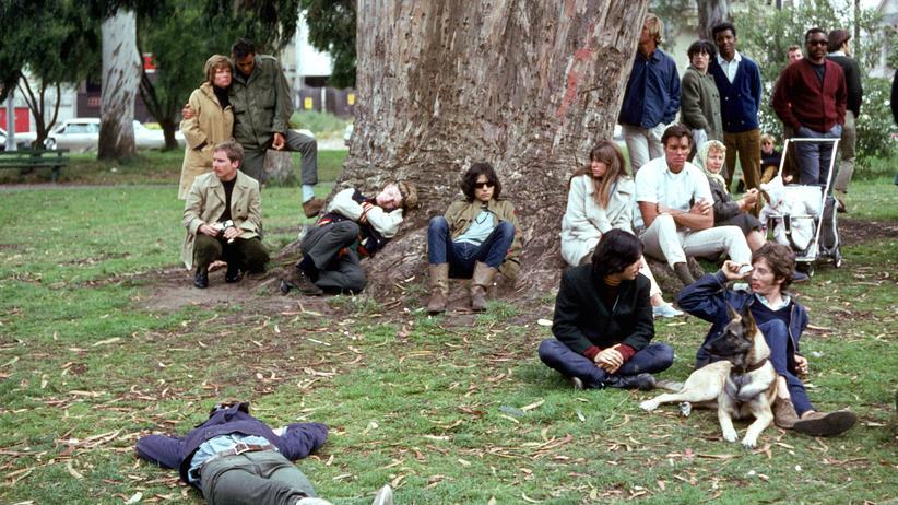 Populismus: Ein Hippie-Happening in den Sechzigern im Golden Gate Park, San Francisco