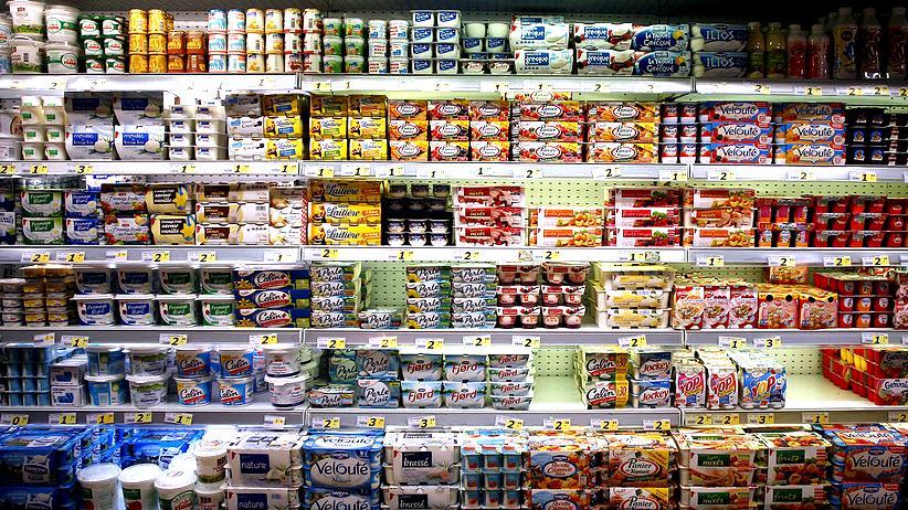 """""""Wackaging"""": Ziemlich laut im Regal: Milchprodukte können jetzt sprechen, hier auf Französisch."""