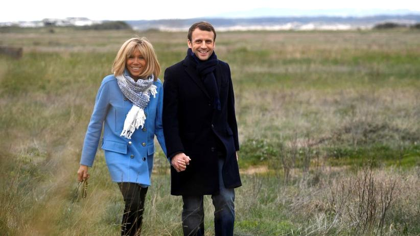 Frankreich: Der Schüler und seine Lehrerin: der französische Präsidentschaftskandidat Emmanuel Macron und seine 24 Jahre ältere Ehefrau Brigitte