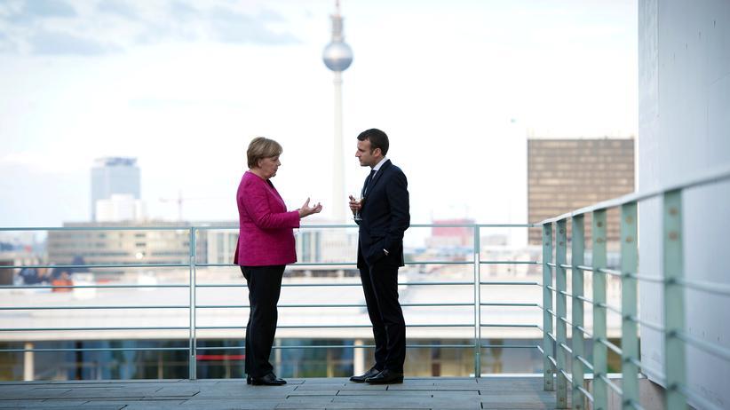 Frankreich: Bundeskanzlerin Angela Merkel und der französische Präsident Emmanuel Macron am 15. Mai in Berlin
