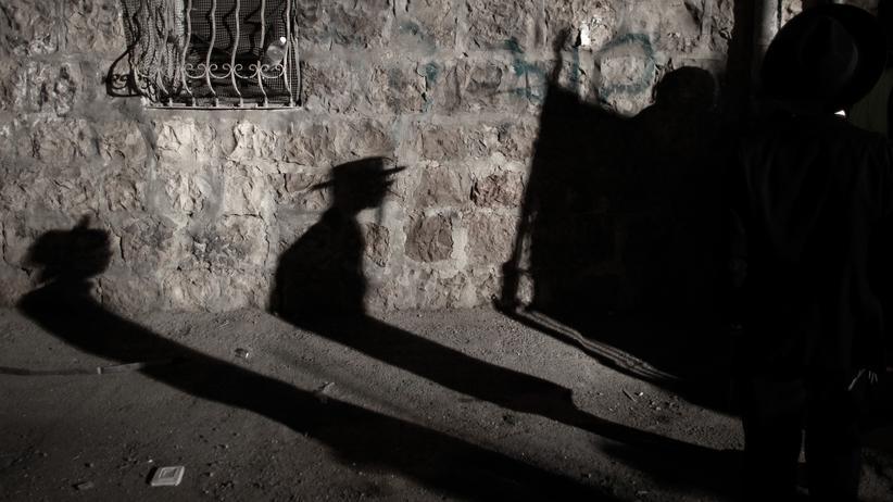 Jerusalem: Der Schatten eines Passanten in Jerusalem