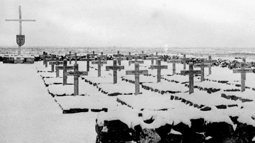 Stalingrad: Krähen, die vereiste Tote fressen