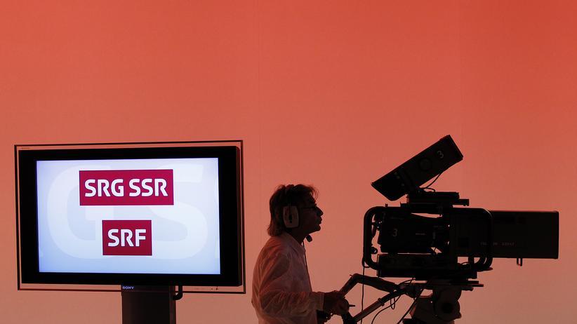 Schweizer Volksentscheid: Die Logos der Schweizerischen Radio- und Fernsehgesellschaften
