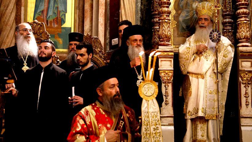Religion: Die griechisch-orthodoxe Ostermesse 2018 in der Grabeskirche in Jerusalem