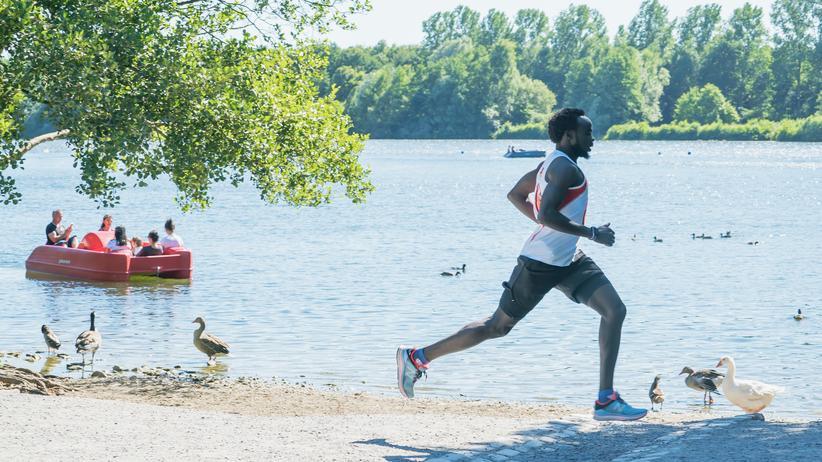 "Integration: Abdelmajeed Abdallah am Rubbenbruchsee in Osnabrück: ""Umwege sind da, um zu beweisen, dass man trotzdem ankommt."""